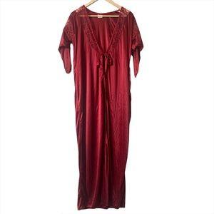 VINTAGE | Rambha satin front tie robe
